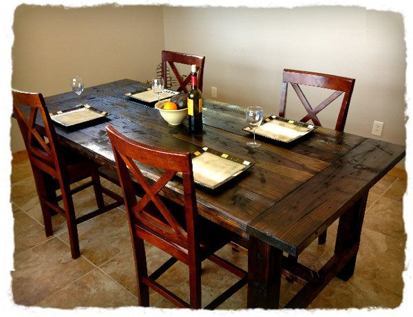 How to make a distressed farm table