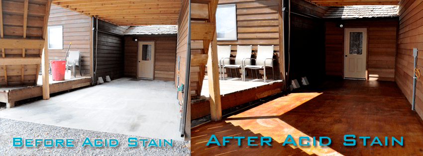 How To Acid Stain A Patio. Acid Stained Patio