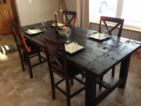 Distressed Farm Table Project How To Build A Farm Table