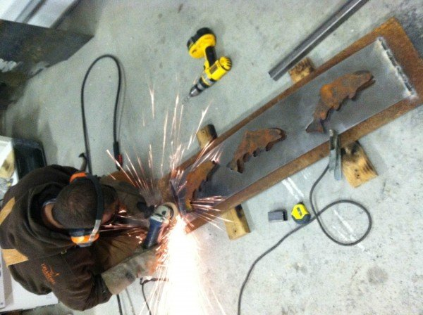 grinding plasma art on ground