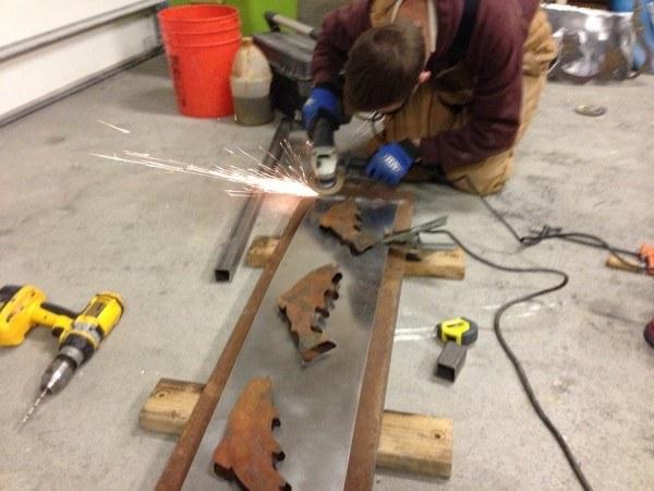 grinding plasma cut wall art