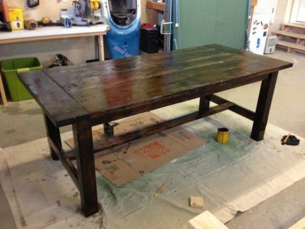 Stained Farm Table