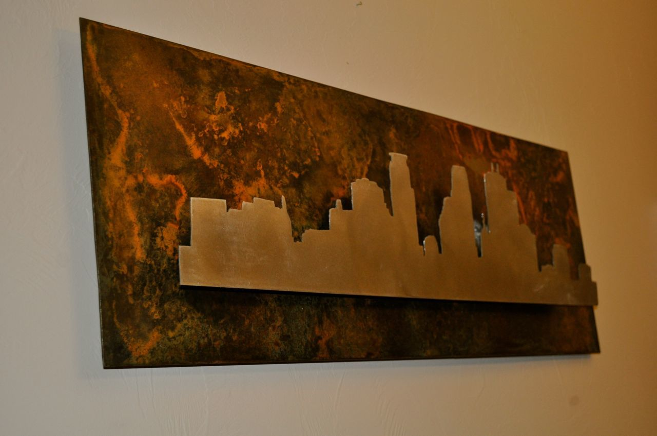 Metal Skyline Art - DIY Projects with Pete