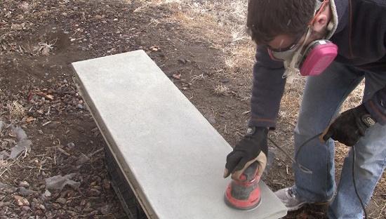 Final-Sanding-Concrete-Counters
