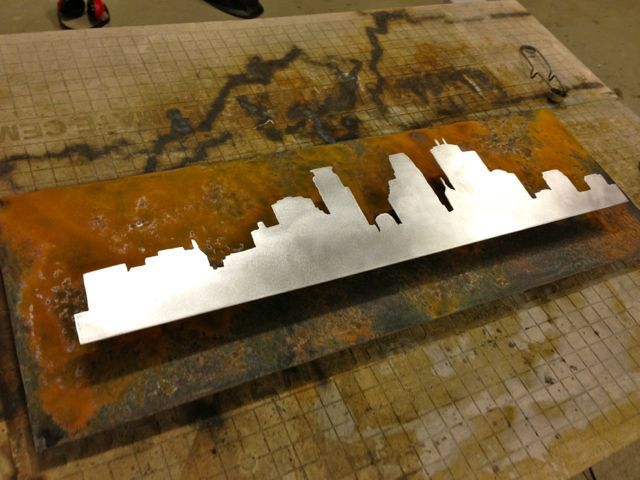 Center the Silhouette on the background and then weld them together.