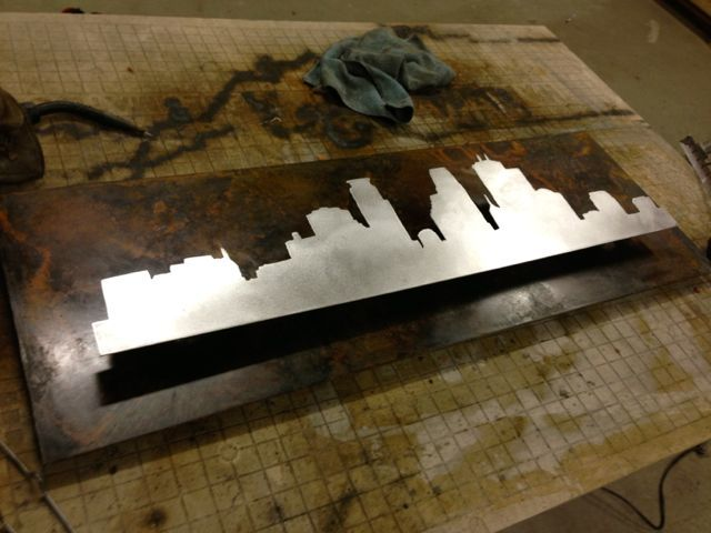 Patina'd Steel - How to finish and seal steel