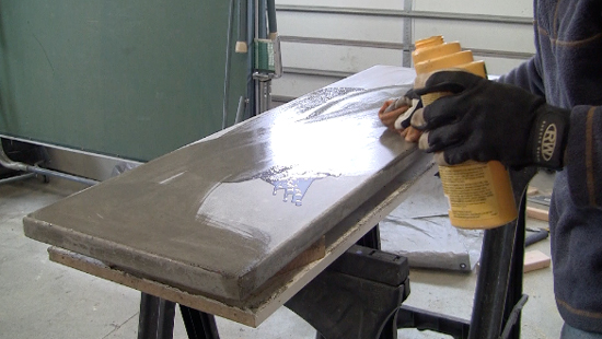 Apply Sealer To Concrete Table