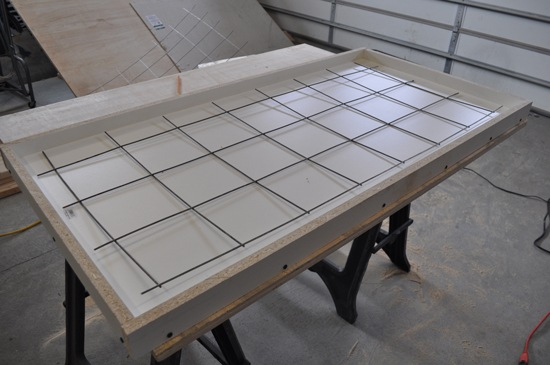How to build a concrete table for beginners : concrete table re enforcement from www.diypete.com size 550 x 365 jpeg 134kB