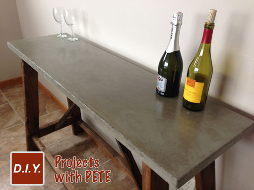 Lovely Diy Pete Concrete Table
