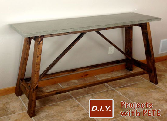 How To Make A Concrete Table