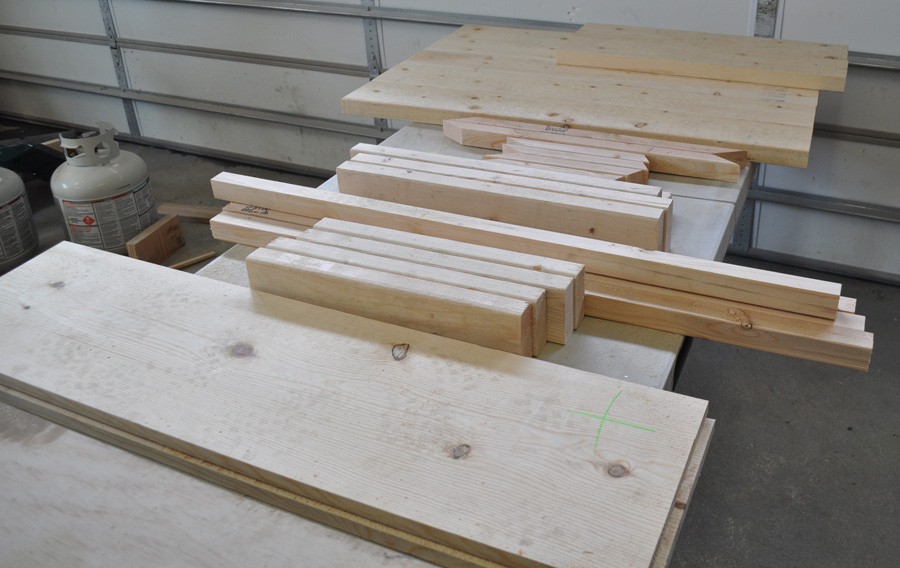 Lumber for Farmhouse Table