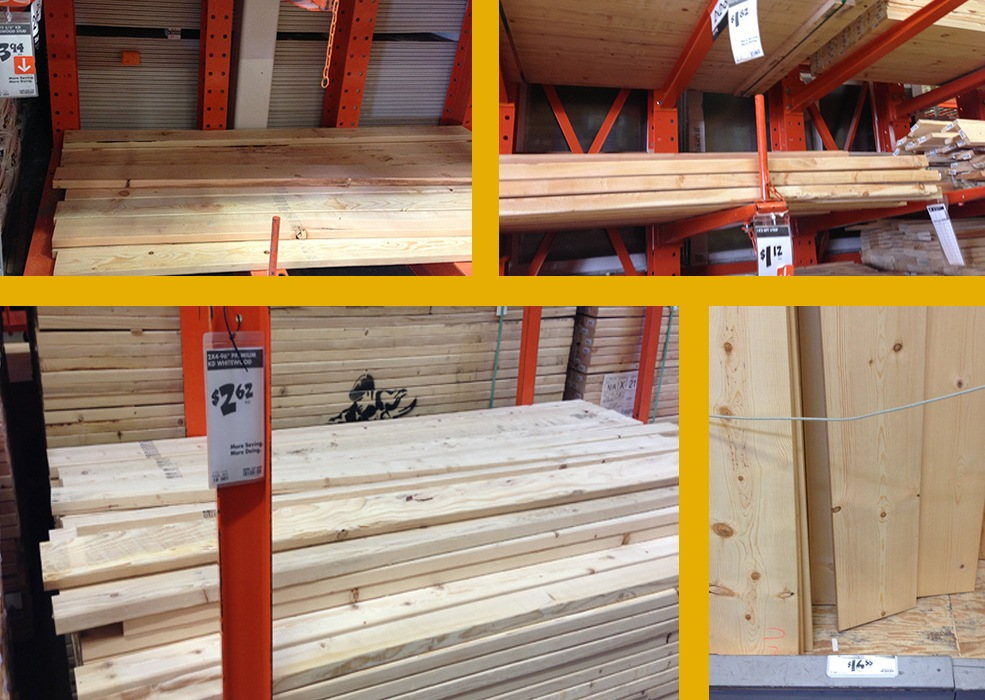 Lumber from Home Depot