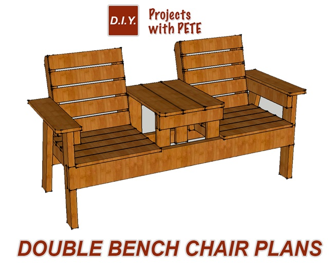 Free Patio Chair Plans How to Build a Double Chair Bench  : BenchChairPlans1 from www.diypete.com size 650 x 512 jpeg 198kB