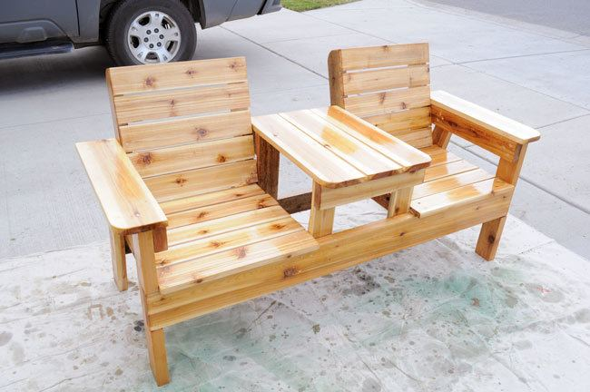 Free patio chair plans how to build a double chair bench with table how to finish patio furniture watchthetrailerfo