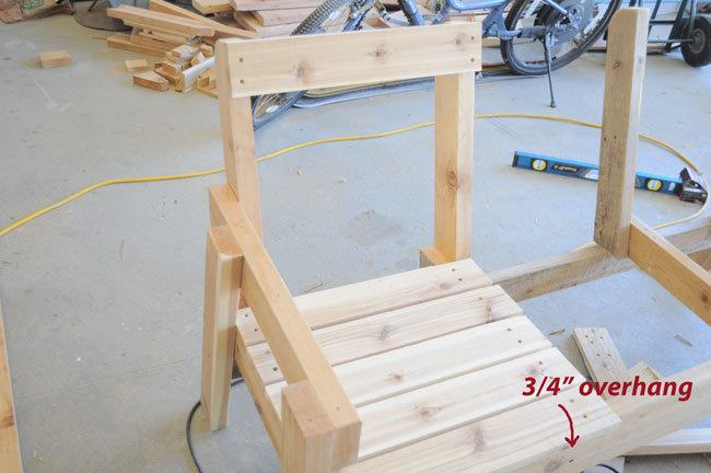 How To Build A Double Chair Bench With Table Free Plans on Adirondack Camp Plans