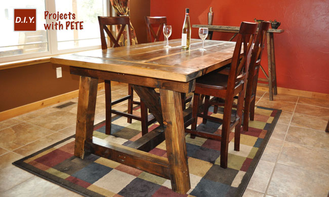 How to Build a Rustic and Bold Farm Table : DIY Pete Farm Table from www.diypete.com size 650 x 390 jpeg 68kB