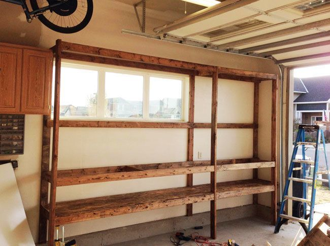 build wood garage shelf