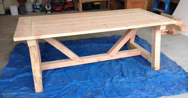 How to build a rustic and bold farm table for Building a farmhouse