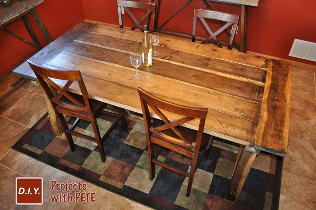 woodwork farmhouse table plans build pdf plans