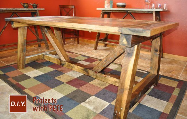 Beautiful How To Build A Rustic Farm Table Diy