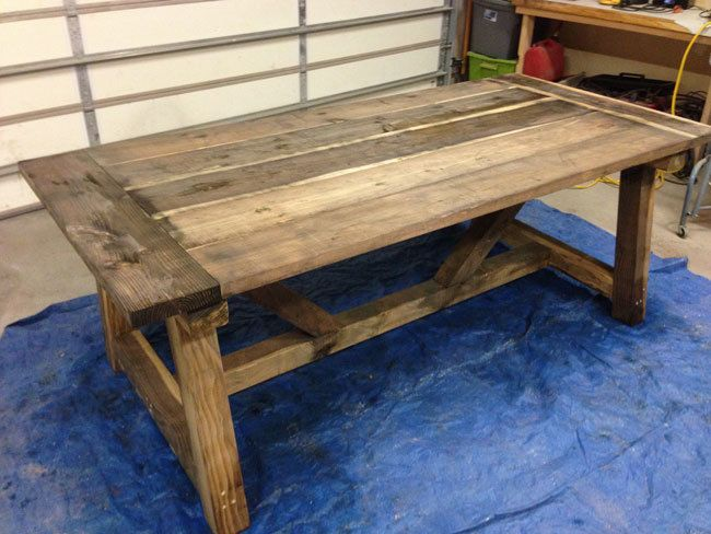 Pleasing How To Build A Rustic And Bold Farm Table Interior Design Ideas Truasarkarijobsexamcom