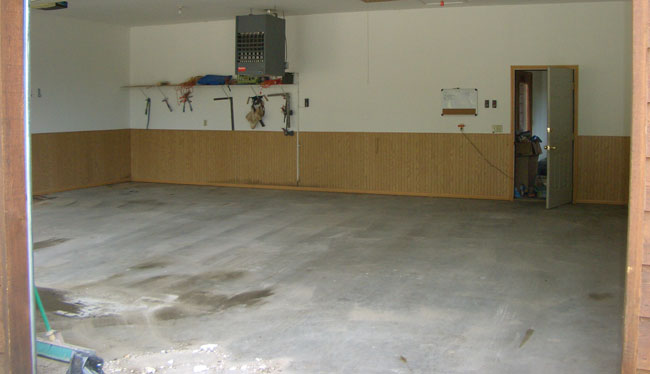 Diy concrete garage floor how to clean ask home design for How to clean garage floor