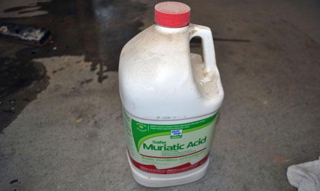 Muriatic Acid For Cleaning Garage Floor