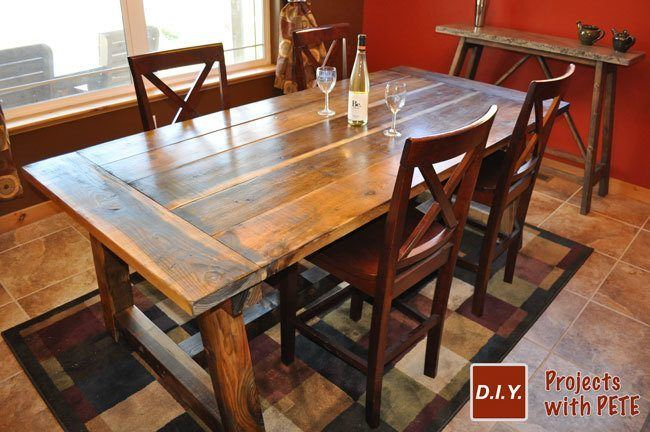 Superieur Rustic Farm Table Diy Pete