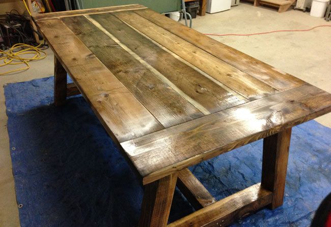 Wood cedar rustic table plans pdf plans for Rustic dining room table plans