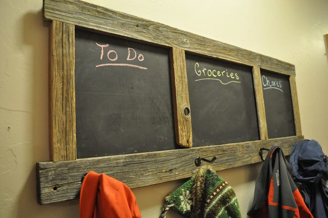 DIY Chalkboard Coat Rack Project