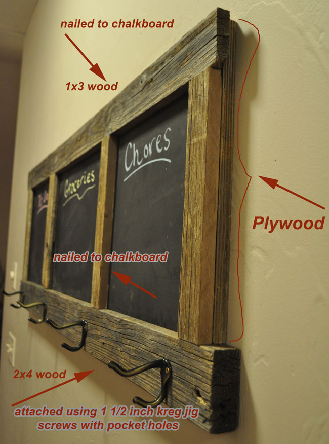 DIY Chalkboard Coat Rack Project Adorable Making A Coat Rack