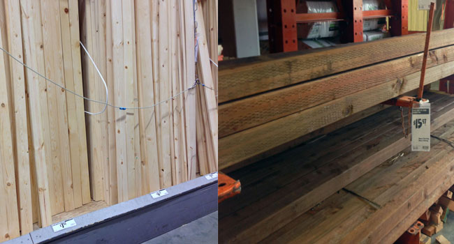 Lumber needed for project  - 4x4 post and 1x4 boards