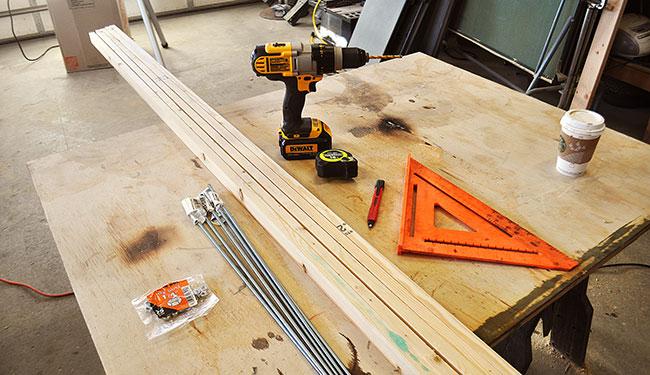 How to build a wooden floor mat - DIY Pete