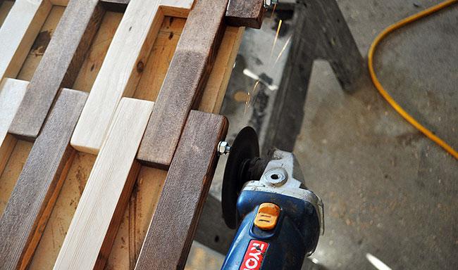How to build a wooden floor mat process - DIY Pete