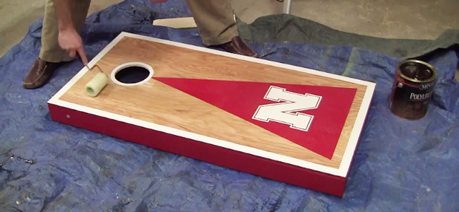 Wooden Corn Hole Game How to build a Cornhole Toss Game Set Cornhole Board Plans 33