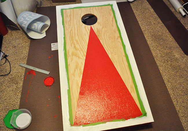 Paint Your Own Cornhole Toss Board