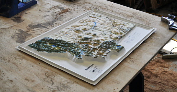Raised Relief Map