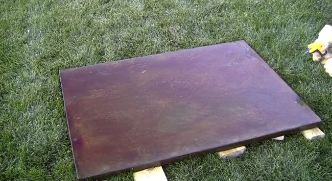 How To Make A Concrete Coffee Table With A Trowel Finish - Stained concrete table