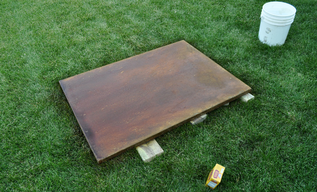 How To Make A Concrete Coffee Table With A Trowel Finish - Stain steel table