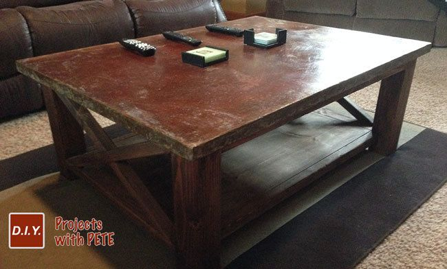How To Make A Concrete Coffee Table How To Make A Concrete Coffee Table With A Trowel Finish