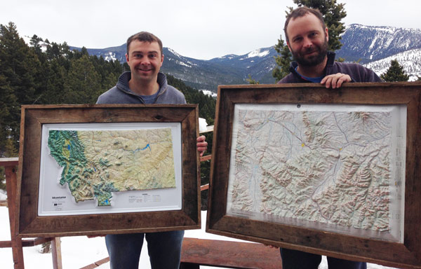 how to frame maps with diy pete