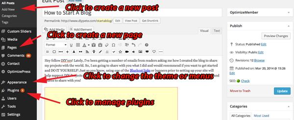 How to edit wordpress website