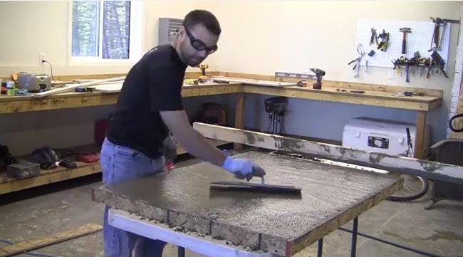 trowel-concrete-counter
