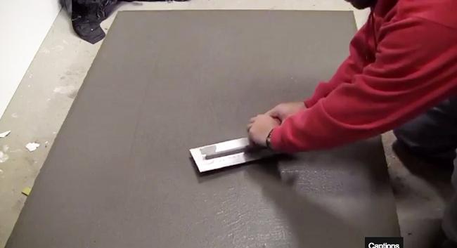 trowel-concrete-table