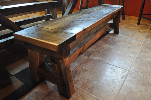 Farm Style Benches with Polyurethane