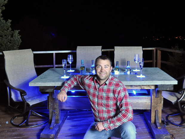 Sensational Stunning Led Concrete Patio Table With A Built In Cooler Interior Design Ideas Pimpapslepicentreinfo