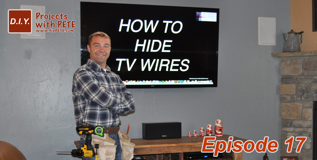 How to hide tv wires for Ideas to cover tv wires