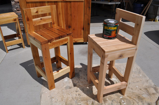 Sealing outdoor furniture