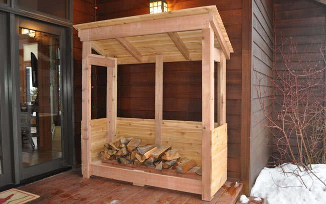 garage ideas using pallets - How to Build a Firewood Rack