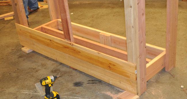 Cedar Picket Firewood Rack